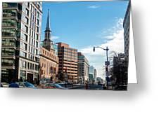 Streets Of Washington Dc Usa Greeting Card