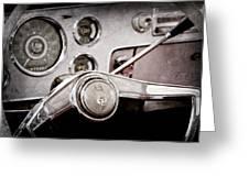 Studebaker Steering Wheel Emblem Greeting Card