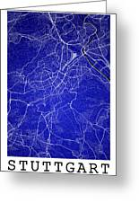 Stuttgart Street Map - Stuttgart Germany Road Map Art On Colored Greeting Card