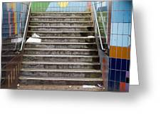 Subway Stairs Greeting Card by Fizzy Image