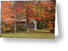Sugarhouse In Autumn Greeting Card