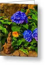 Summer Flower Garden Greeting Card