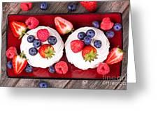 Summer Fruit Platter Greeting Card by Jane Rix