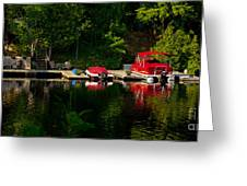 Summer Morning On Muskoka River Greeting Card