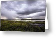 Summer Storm Over The Lake Greeting Card