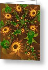 Summer's Last Sunflowers Greeting Card