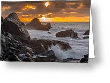 Sun Sets On Patrick's Point Greeting Card