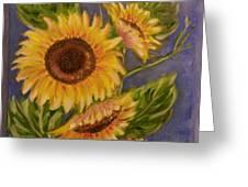 Sunflower Burst 1 Greeting Card