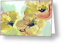 Sunlit Poppies I Greeting Card