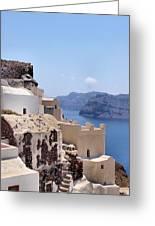 Sunny Santorini Greeting Card
