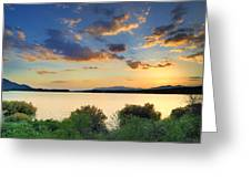 Sunrays At The Lake Greeting Card