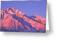 Sunrise At 14,494 Feet, Mount Whitney Greeting Card