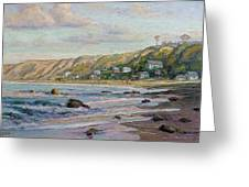 Sunrise At Crystal Cove Cottages Greeting Card