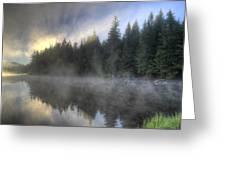 Sunrise At Trillium Lake Greeting Card