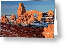 Sunrise At Turret Arch Greeting Card