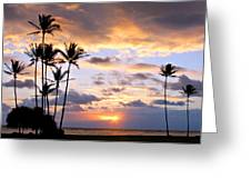 Sunrise Between Palms Greeting Card