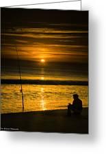 Sunrise Fishing Greeting Card