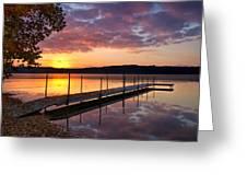 Sunrise On Keoka Lake Greeting Card