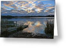 Sunrise On Silver Lake Greeting Card