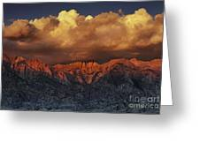 Sunrise Storm Alabama Hills California  Greeting Card