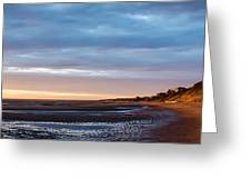 Sunset At First Encounter Beach Greeting Card
