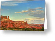 Sunset At Ghost Ranch Greeting Card