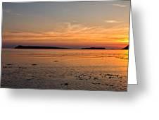 Sunset At Loch Bay Greeting Card
