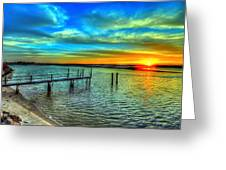 Sunset At The Cape Greeting Card