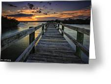 Sunset At Wildcat Cove Greeting Card