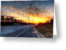 Sunset In Charlotte Greeting Card