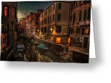 Sunset In Venice Greeting Card