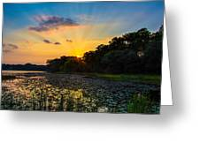 Sunset On Lake Masterman Greeting Card