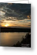 sunset over Aboda Klint lake Greeting Card