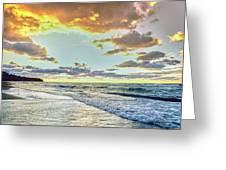 Sunset Over Lake Superior, Keweenaw Greeting Card