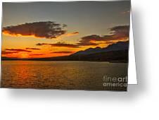 Sunset Over Mackay Reservoir Greeting Card