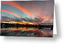 Sunset Over New Hope Greeting Card
