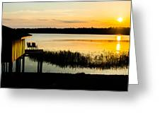 Sunset Over The Lake Greeting Card