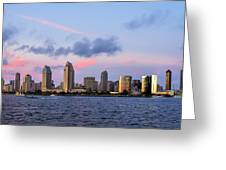 Sunset San Diego Bay Greeting Card