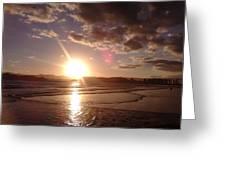 Sunset Santos Brazil Greeting Card