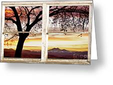 Sunset Tree Silhouette Abstract Picture Window View Greeting Card by James BO  Insogna