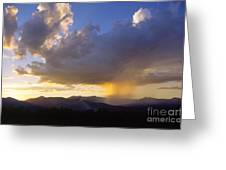 Sunset While Raining Over Mt. Mansfield Stowe Vermont Greeting Card