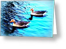Swim With Me To The End Of Time  Greeting Card