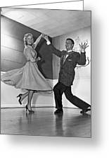 Swing Dancing Couple Greeting Card