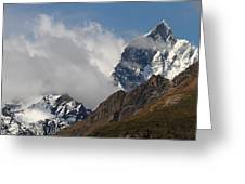 Swiss Alps Shrouded In Clouds Greeting Card by Jetson Nguyen