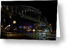 Sydney Harbor Bridge At Night Greeting Card