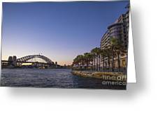 Sydney Harbour In Australia By Night Greeting Card