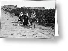 Syria Druze Children, 1938 Greeting Card