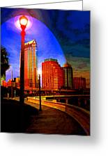 Tampa History In Reflection Greeting Card
