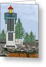 Table Bluff Lighthouse California Greeting Card
