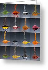 1 Tablespoon Flavor Collage Greeting Card by Steve Gadomski